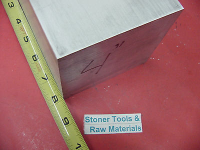 "4"" X 4"" ALUMINUM 6061 SQUARE SOLID BAR 8"" long T6511 Flat New Mill Stock"