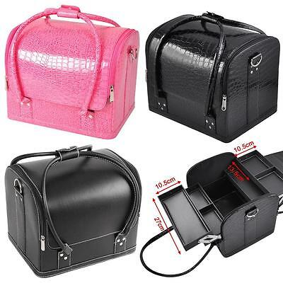 Professional Make Up Case Vanity Cosmetic Beauty Box Jewellery Nail Tech Storage