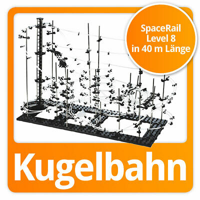 SpaceRail Kugelbahn moderne Space Rail Murmelbahn Spacewarp Level 8 (40 Meter)