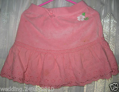 ✿ GAP BABY GIRLS EMBROIDERED PINK GYPSY FRILLY BRODERIE ANGLAISE SKIRT SHORT 5yr