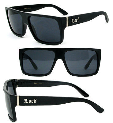 333a2f993ff Locs Cholo Sunglasses OG Style w  FREE Pouch - Matte Black Frame Black Lens  LC81