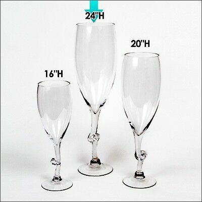 Tall Giant Wine Champagne Glass Vase Wedding Centerpiece