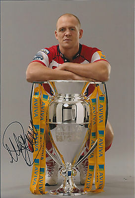 Mike TINDALL Signed Autograph 12x8 Photo AFTAL COA England RUGBY Gloucester RARE