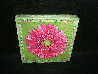Gerbera Daisy paper beverage napkins Can use for decoupage