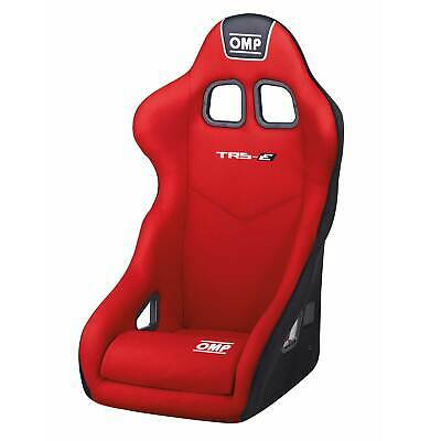OMP TRS, TR-S Red Velour Fabric Steel Frame Bucket Seat For Race/Rally