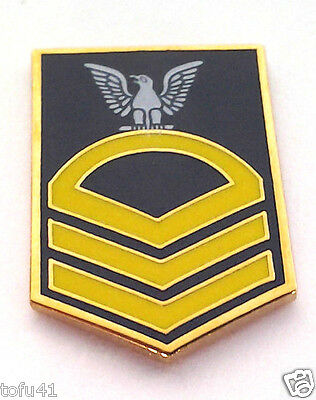 US NAVY CHIEF PETTY OFFICER  E7 Military Veteran Rank Pin 14399 HO