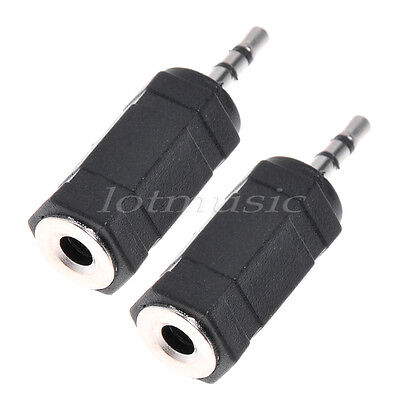 2pcs Headphone Adapter Cellphone PDA 2.5mm Male To 3.5mm Audio Cable Connector