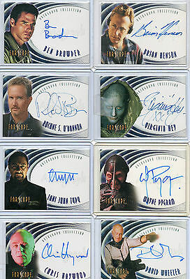 Farscape Season 1 2 3 4 & Wormhole Autograph & Costume Card Selection NM