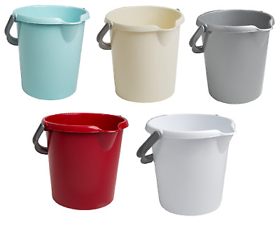 Plastic Bucket,Bin 16l Storage Container Pail Tub Baby Bucket Pot With Handle