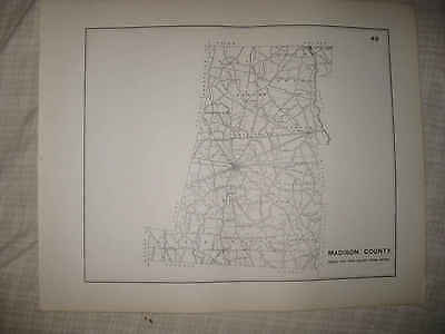 Antique 1910 Madison County London Plain City Ohio Highway Road Map Rare Nr