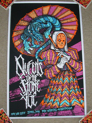 QUEENS OF THE STONE AGE concert gig tour poster 5-6-14 ST PAUL 2014 klausen