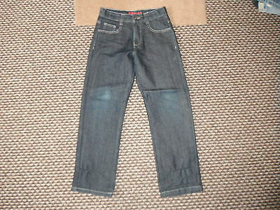 "George Custom Cut Classic Fit Jeans W25"" L24"" Faded Dark Blue Boys 9/10Yrs Jeans"