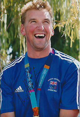 Matthew PINSENT Signed Photo Autograph AFTAL COA GOLD Medal Rowing Athens 2004