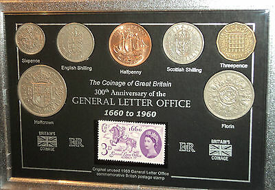 The General Letter Postal Post Office 300th Anniversary Coin Stamp Gift Set 1960