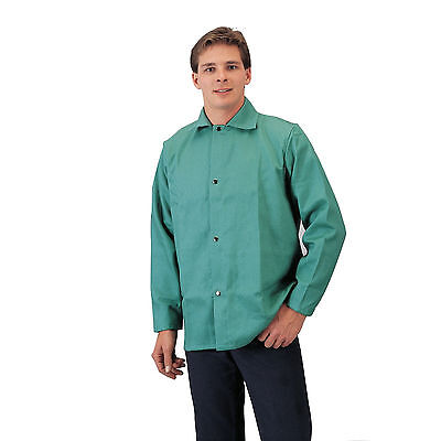 Tillman 6230 9oz Green FR Cotton Welding Jacket - M
