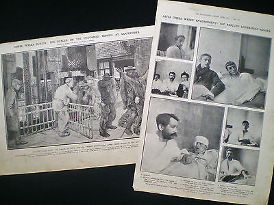 Courrieres Mine Disaster Coal Mining France 2 Pages / Articles 1906