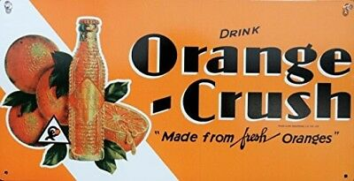Orange Crush Metal Sign, Decor Pop Soda Cola, Bar Restaurant, New, Free Shipping