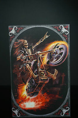 Anne Stokes Box hell rider Keepsake trinket jewelry large skeleton Biker 28cm