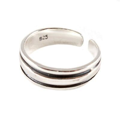 Sterling Silver Toe Ring - Striped Ring Design - BOXED