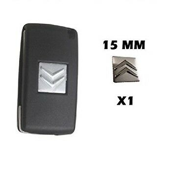 Remote Flip Key Fob Case Logo Emblem Badge Sticker Decal 15Mm Fits For Citroen