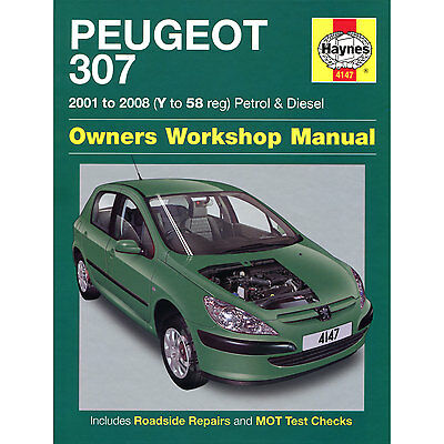 New Haynes Manual Peugeot 307 01-08 Car Workshop Repair Book 4147