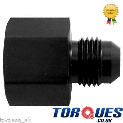 AN10 Female to AN8 Male Straight Reducer Adapter Black