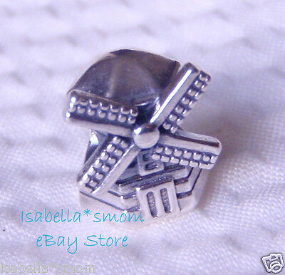 a4d911065 WINDMILL Authentic PANDORA Silver SUMMER Wind Charm-Bead 791297 NEW w POUCH!
