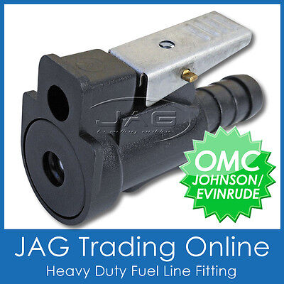 """5/16"""" (8mm) FEMALE FUEL LINE FITTING OMC JOHNSON/EVINRUDE - OUTBOARD MOTOR END"""