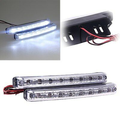 2x Car Daytime Running Light 8LED DRL Fog Driving Daylight Super White Head Lamp