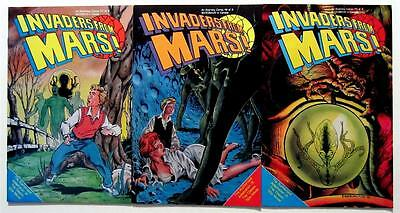 INVADERS FROM MARS! ETERNITY COMICS 1-3 (3 ISSUES) NO. #1 2 3 (VF/NM) UNREAD