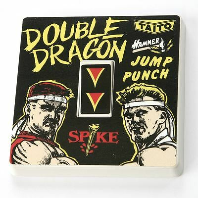 Double Dragon Theme Light Switch Cover Vinyl Sticker - Gaming Skin Fight Decal