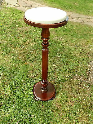 Wonderful Victorian Pedestal Plant Stand With  Marble Top