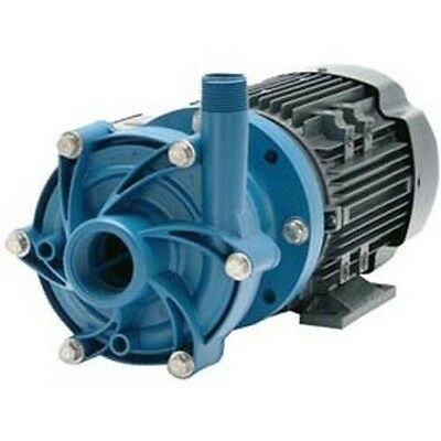 CHEMICAL PUMP-  Poly - 1 HP - 115 - 208 / 230V - 1 Ph - 95 GPM - Magnetic Drive