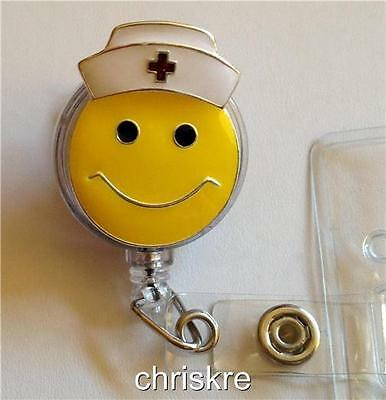 Nursing Gift ID Holder Retractable Nurses Cap Smiley Face Graduation USA Seller