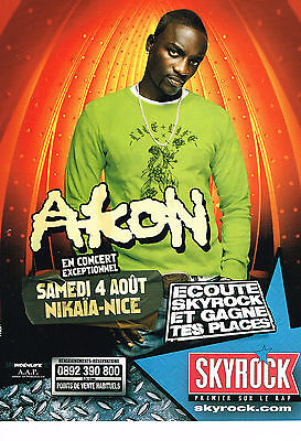 Publicite Advertising 054 2007 Skyrock Radio Akon En Concert à Nice Other Breweriana