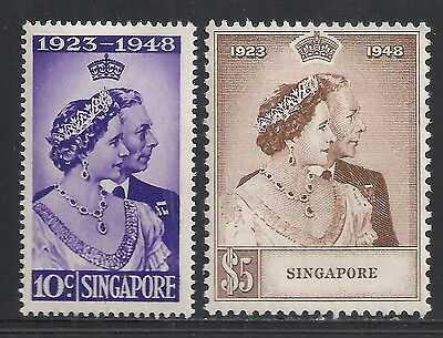 Singapore stamps 1948 SG 31-32  MNH  VF