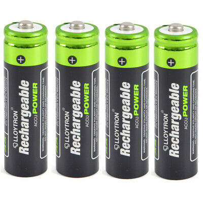 4 Pack Of Aa Solar Lights Camera Torch Rechargeable Batteries