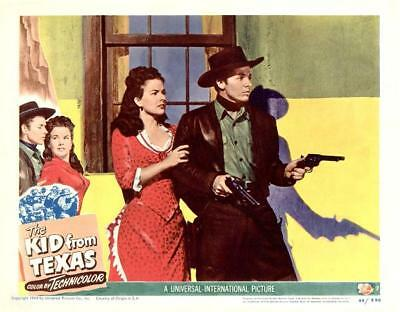 AUDIE MURPHY 1st starring WESTERN * THE KID FROM TEXAS * 11x14 LC print 1949