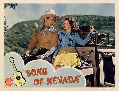 ROY ROGERS & DALE EVANS * eyes of love * SONG OF NEVADA * 11x14 LC print 1944