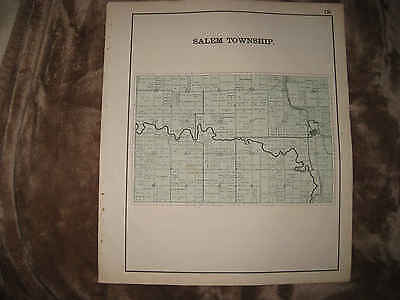Antique 1898 Salem Township Kossuth Auglaize County Ohio Map Detailed Nr