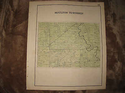 Antique 1898 Moulton Township Auglaize County Ohio Map Detailed Nr