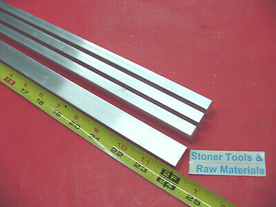 "4 Pieces 3/8"" X 3/4"" ALUMINUM 6061 FLAT BAR 24"" long T6511 .375"" New Mill Stock"