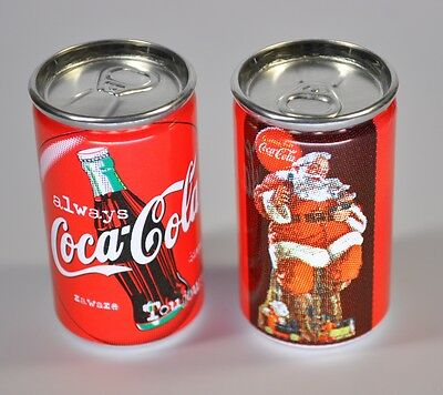 Coca-Cola USA miniatur Always Coke Can mini Dose Motiv Santa sitzt / mit Logo