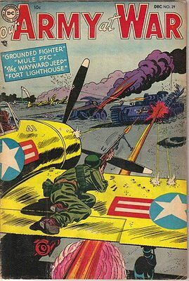 Our Army At War Comic Book #29, DC Comics 1954 VERY GOOD+