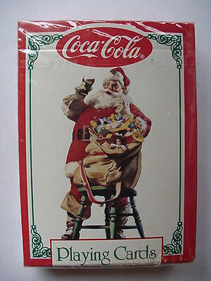 2 Different Coca Cola Playing Cards Santa Christmas Toys  Deck Still Sealed Coke