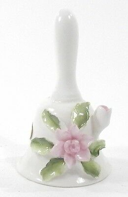 Vintage 1984 Porcelain 3-Inch Tall Collectible Brinns Bone China Flower Bell