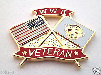 *** WW II VETERAN ***  Military Veteran Hat Pin 15908 HO