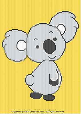 Crochet Patterns - KOALA BEAR Color Graph BABY Afghan Pattern