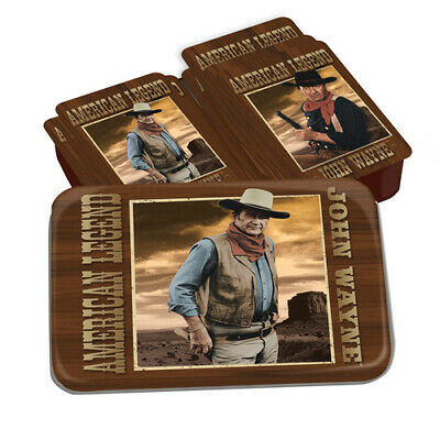 John Wayne Western Movies Playing Card Gift Set In Storage Tin, NEW SEALED
