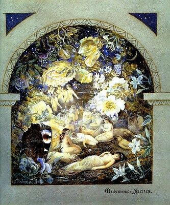 Midsummer Fairies Fantasy Fairy Victorian Painting By Etheline Dell Repro
